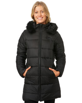 BLACK WOMENS CLOTHING RIP CURL JACKETS - GJKCF1BLK