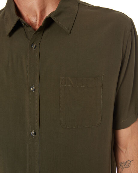 GUN GREEN MENS CLOTHING RUSTY SHIRTS - WSM0977GGN