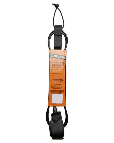 BLACK BOARDSPORTS SURF CAPTAIN FIN CO. LEASHES - CX182001BLK