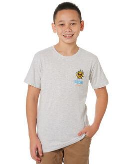 LIGHT GREY MARLE KIDS BOYS RIP CURL TOPS - KTEWB2-3597