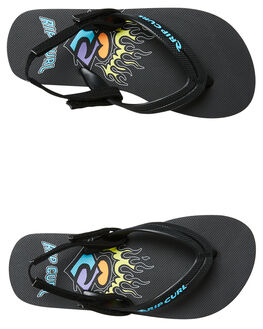 BLACK LIME KIDS BOYS RIP CURL THONGS - TKTE05T1904