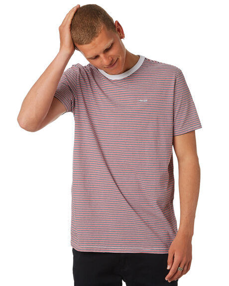 POMPEI RED MENS CLOTHING ELEMENT TEES - 183101PRED