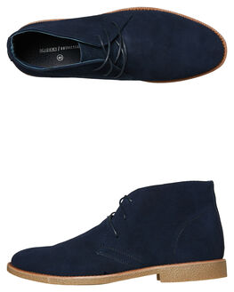 NAVY MENS FOOTWEAR ACADEMY BRAND BOOTS - 18W011NAVY