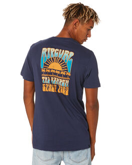 NAVY MENS CLOTHING RIP CURL TEES - CTEYH20049