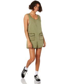 ARMY GREEN WOMENS CLOTHING THRILLS PLAYSUITS + OVERALLS - WTR8-916FARMY