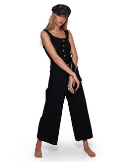 BLACK WOMENS CLOTHING BILLABONG PLAYSUITS + OVERALLS - BB-6507518-BLK