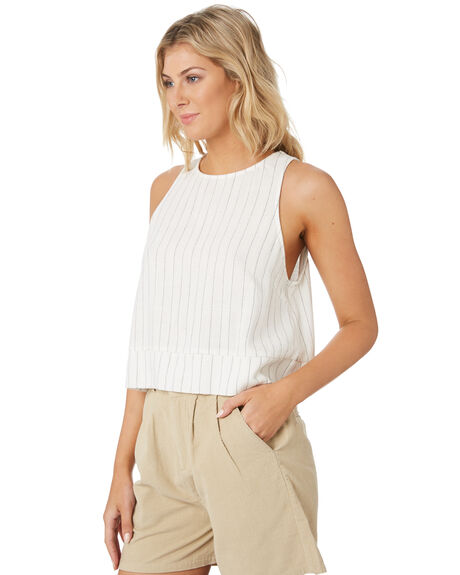 BRIGHT WHITE WOMENS CLOTHING RUSTY FASHION TOPS - WSL0645BTW