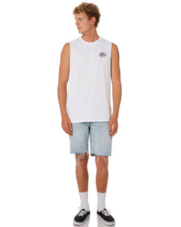 WHITE MENS CLOTHING DEPACTUS SINGLETS - D5202272WHITE