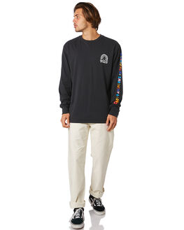 BLACK MENS CLOTHING VOLCOM TEES - A3611900BLK