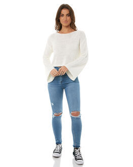 OFFWHT WOMENS CLOTHING MINKPINK KNITS + CARDIGANS - MP1710804OFFWHT