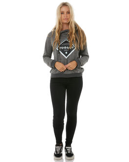 CHARCOAL HEATHER WOMENS CLOTHING HURLEY JUMPERS - AGFLDFDAK07F