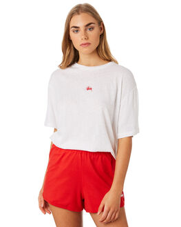 WHITE WOMENS CLOTHING STUSSY TEES - ST192003WHI