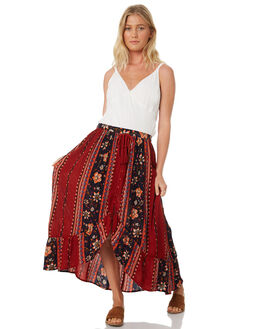 RUST GOLD WOMENS CLOTHING BAND OF GYPSIES SKIRTS - WR360530E-1529RPRT