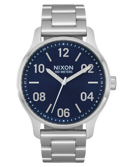 NAVY SILVER MENS ACCESSORIES NIXON WATCHES - A12421849