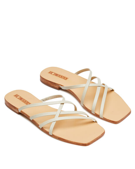 OFF WHITE WOMENS FOOTWEAR SOL SANA FASHION SANDALS - SS201S255OWHT