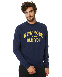 NAVY MENS CLOTHING DEUS EX MACHINA JUMPERS - DMP208462NVY