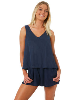 DARK BLUE WOMENS CLOTHING ALL ABOUT EVE PLAYSUITS + OVERALLS - 6423054NVY