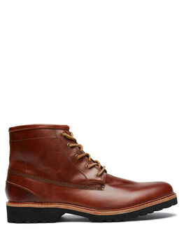 OXBLOOD OILY LEATHER MENS FOOTWEAR URGE BOOTS - URG19067OOL