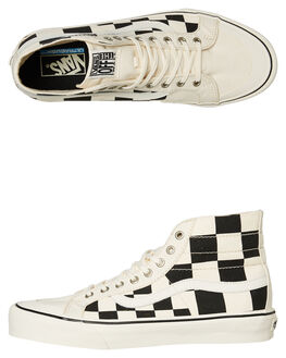 BLACK WHITE MENS FOOTWEAR VANS HI TOPS - VNA3MV1UPYBLKW