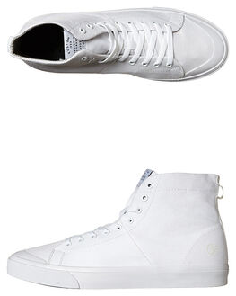 ALL WHITE MENS FOOTWEAR KUSTOM HI TOPS - SS4957100DALWHIM