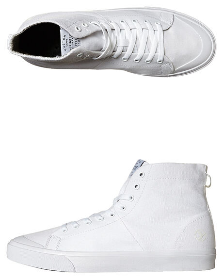 ALL WHITE MENS FOOTWEAR KUSTOM HI TOPS - SS4957100DALWHIM