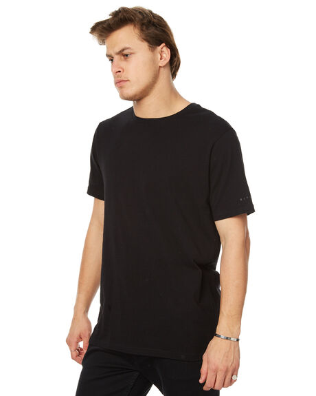 BLACK MENS CLOTHING RIP CURL TEES - CTECW20090