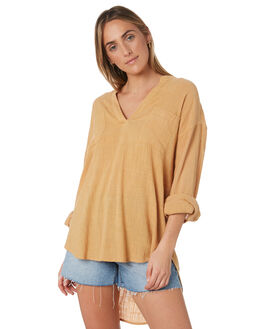 GOLD WOMENS CLOTHING RIP CURL FASHION TOPS - GSHFQ10146