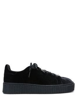 BLACK VELVET WOMENS FOOTWEAR THERAPY SNEAKERS - 9105BLKV