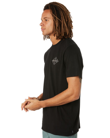 BLACK MENS CLOTHING SWELL TEES - S5222008BLK