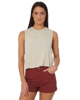 STONE OUTLET WOMENS RVCA SINGLETS - R282004STONE