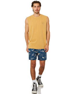 MUSTARD MENS CLOTHING AFENDS SINGLETS - M191085MUST