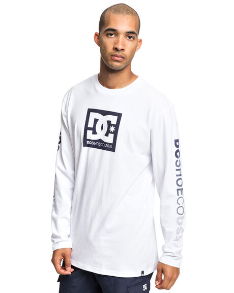 SNOW WHITE MENS CLOTHING DC SHOES TEES - UDYZT03598-WBB0