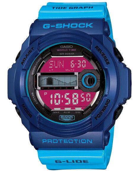 BLUE MENS ACCESSORIES G SHOCK WATCHES - GLX150-2DBLU