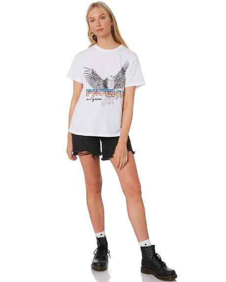WHITE WOMENS CLOTHING ALL ABOUT EVE TEES - 6466016WHT
