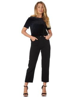 BLACK WOMENS CLOTHING LULU AND ROSE TEES - LU23383BLK