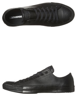 BLACK MONOCHROME WOMENS FOOTWEAR CONVERSE SNEAKERS - SS135253BLKMOW
