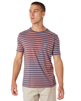 NAVY STRIPE MENS CLOTHING BARNEY COOLS TEES - 100-CC2-NVYST