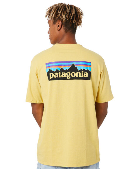SURFBOARD YELLOW MENS CLOTHING PATAGONIA TEES - 38504SUYE