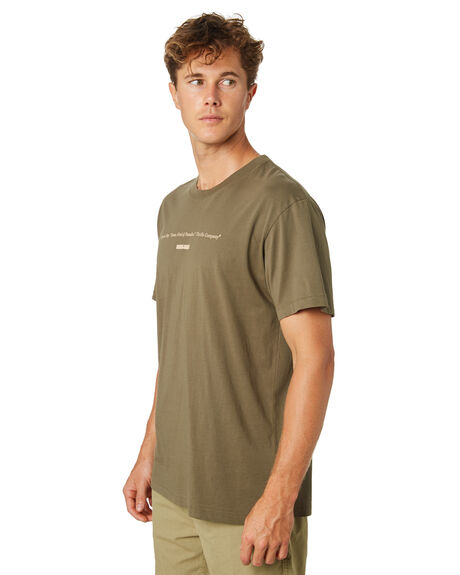 ARMY GREEN MENS CLOTHING THRILLS TEES - TR8-102FARMGN