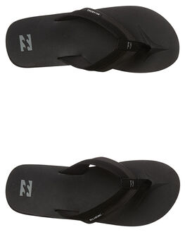 BLACK MENS FOOTWEAR BILLABONG THONGS - 9661941BLK