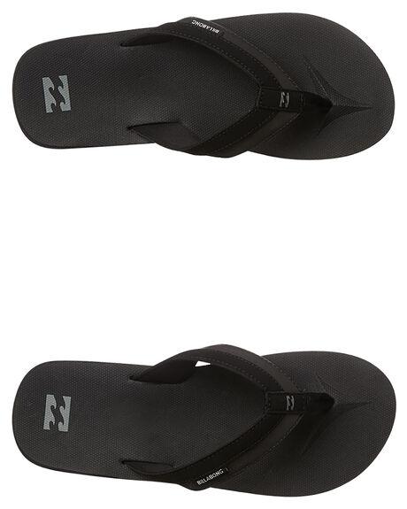 BLACK MENS FOOTWEAR BILLABONG THONGS - 9661941BLK