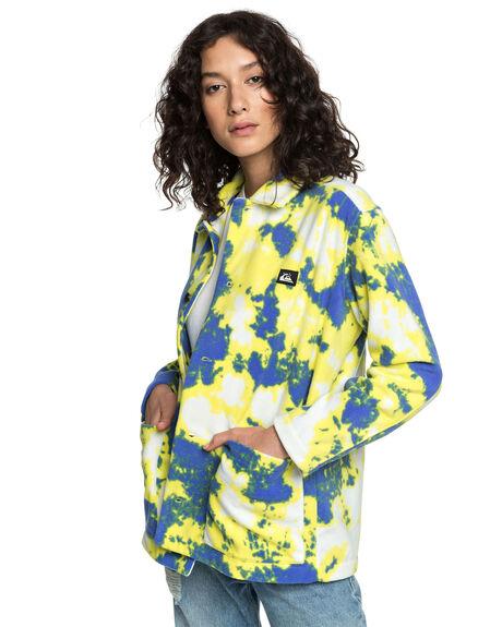 TIE DYE POLAR WOMENS CLOTHING QUIKSILVER JACKETS - EQWFT03015-YGW6