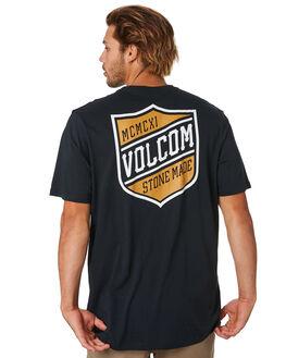 BLACK MENS CLOTHING VOLCOM TEES - A5001940BLK