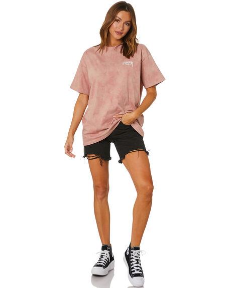 BLUSH WOMENS CLOTHING STUSSY TEES - ST1M0169BLUSH