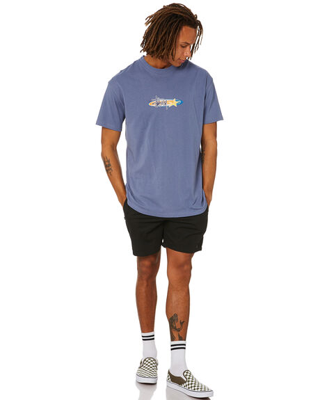 DUSTY BLUE MENS CLOTHING STUSSY TEES - ST015001DTBLU
