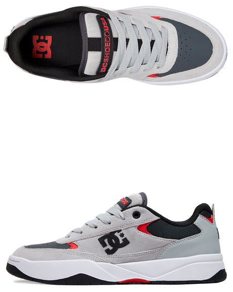 GREY/RED MENS FOOTWEAR DC SHOES SNEAKERS - ADYS100509-GRF