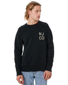 BLACK MENS CLOTHING NUDIE JEANS CO JUMPERS - 150391B01