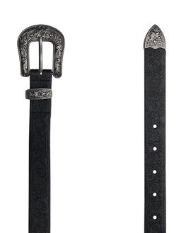 BLACK WOMENS ACCESSORIES RUSTY BELTS - BEL0400BLK