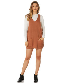 TERRACOTTA WOMENS CLOTHING RHYTHM DRESSES - JAN19W-DR09-TER