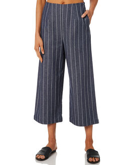 NAVY WHITE STRIPE WOMENS CLOTHING MINKPINK PANTS - MD1808935NVYWH